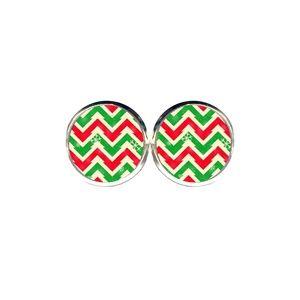 Christmas Chevron Earrings